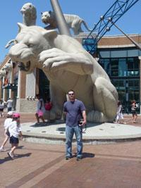 Comerica Park Tiger Statues