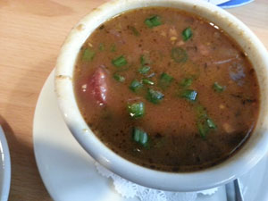 Gumbo at Huck Finn's in New Orleans