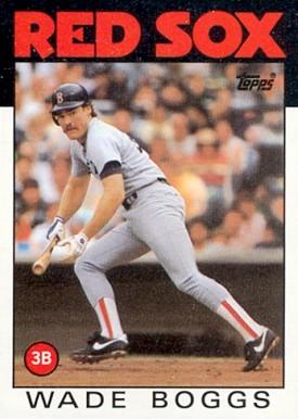 1986 Topps Wade Boggs baseball card
