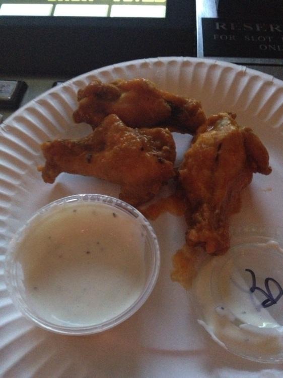 Buffalo wings at Naked City Pizza Shop