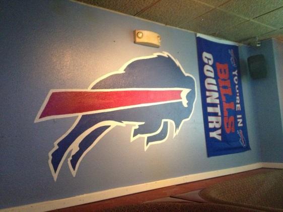 Naked City Pizza Shop Buffalo Bills Decor