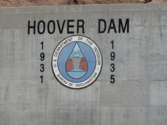 Hoover Dam name plate