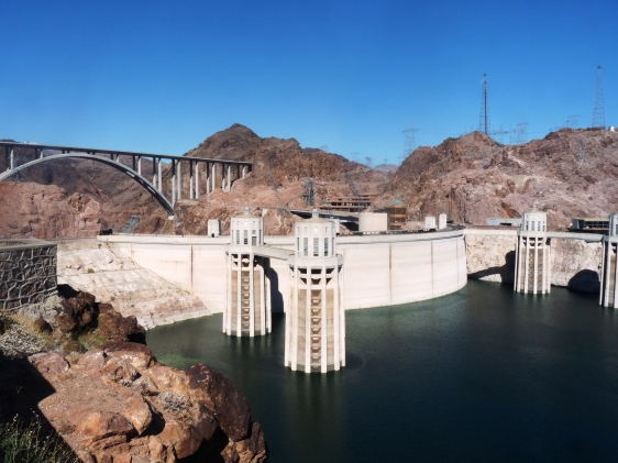 Hoover Dam back side view