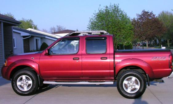 Maroon Nissan Frontier