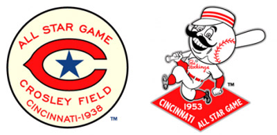 All Star Game logos from the Crosley Field era