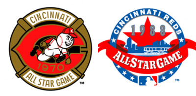 All Star Game logos from the Riverfront Stadium era