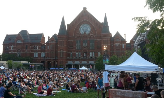 Over the Rhine performs at Washington Park across from Music Hall in Over-the-Rhine