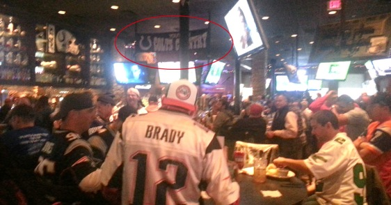 Pats fans take over Colts Country